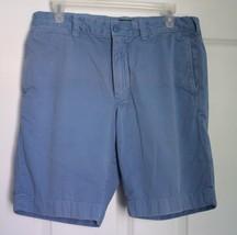 J. Crew Sz 32 Stanton Garment Dyed Blue Cotton Twill Shorts 23863 - $15.84
