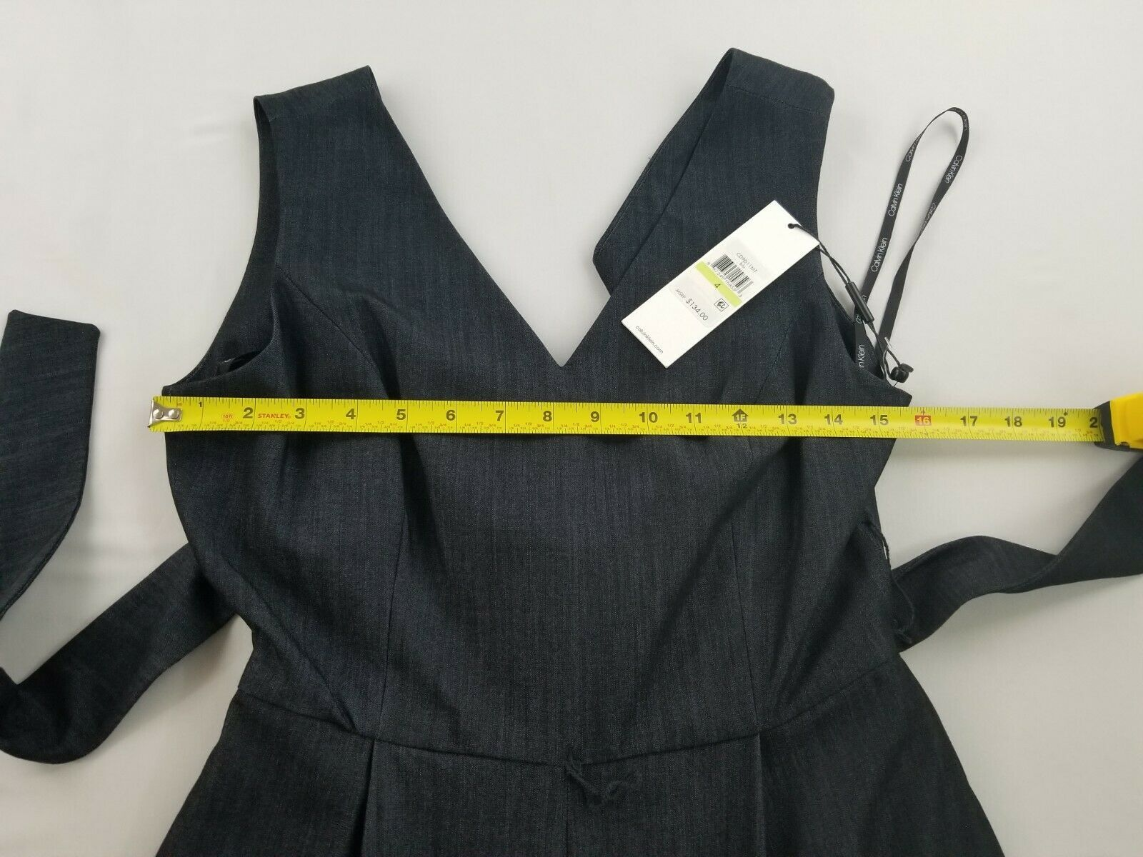 Nuevo Calvin Klein Mujer Mono Mono Pantalones Top CD9D11MT Azul Marino 4 Msrp image 6