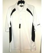 NEW Monterey Club White Black Dry Swing Short Sleeve Golf Polo Shirt Men... - $10.99
