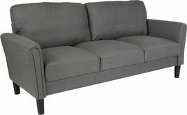 Durable Bari Upholstered Sofa in Dark Gray Fabric - $785.56