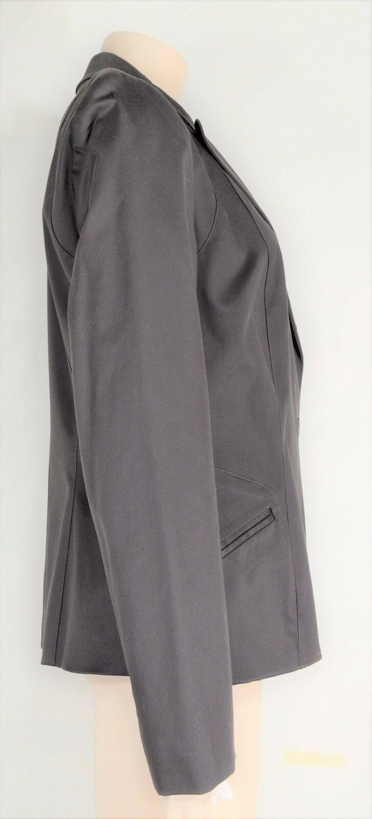 womyn jacket coat NWT SZ 8 dark brown 1-button closure lined NYC USA new image 2