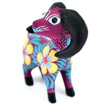 Handmade Alebrijes Oaxacan Copal Wood Painted Folk Art Big Horn Sheep Figurine image 2