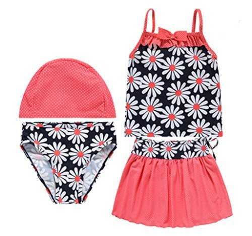 Girls Swimwear Two Piece Swimsuits of Kids Red