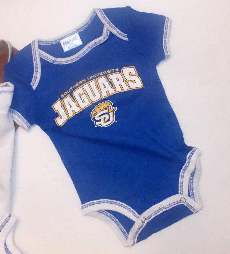 Southern University Jaguars Infant 3 Pk Bodysuits 0-3M 3-6M 6-9M NWT