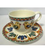 Vintage Franciscan Cup & Saucer Sierra Earthenware Birds & Leaves Johnson Bros. - $19.79