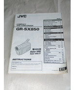 JVC VHS Compact Camcorder GR-SX850 Instructions Manual - $11.82