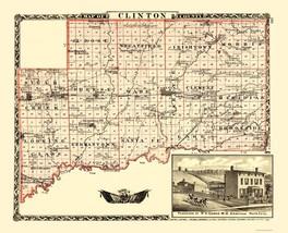 Clinton County Illinois  - Warner 1870 - 23.00 x 28.39 - $36.58+