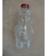 New England Co. Piggy Bank Vintage Clear Glass Syrup Bottle 1950s - £19.19 GBP