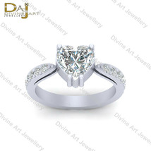 Round And Heart Shape 2.15cttw Diamond Classic Wedding Ring Womens Promi... - €73,18 EUR+