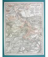 "(2) 1905 MAPS Baedeker - CZECH REPUBLIC Karlsbad + Environs 6 x 8"" (15 x... - $10.12"
