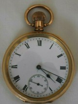 Antique (circa 1900) A..P. .L. Dennison/Waltham 14ct Gold Plated Pocket Watch - $236.05