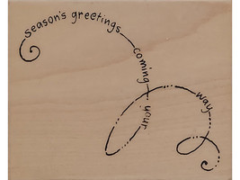 Stampendous 2005 Seasons Swirl Wood Mounted Rubber Stamp #V096