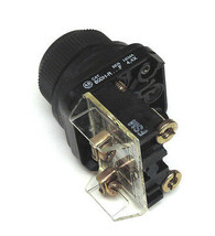 ALLEN BRADLEY 800H-R PUSHBUTTON SER. F W/ 800T-XD2 SER. D CONTACT BLOCK