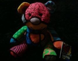 Romero Britto Pop Plush Tallulah The Teddy Bear Enesco Mini NWT image 2