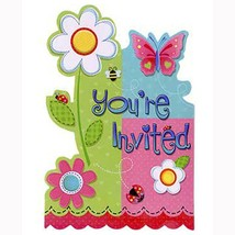 Garden Invitations Save The Date Birthday Party Supplies 8 Per Package New - $3.91