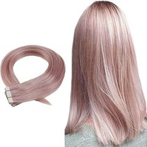 Easyouth Tape in Colourful Hair Extensions 18inch 25g 10Pcs/set Remy Hair Tape i