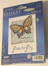 Janlynn Designs For The Needle Free to Fly Counted Cross Stitch Kit 7×9 Sealed - $24.47