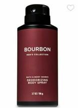 Bath and Body Works BOURBON Men's Collection Deodorizing Body Spray ~ 3.7 oz. - $11.99