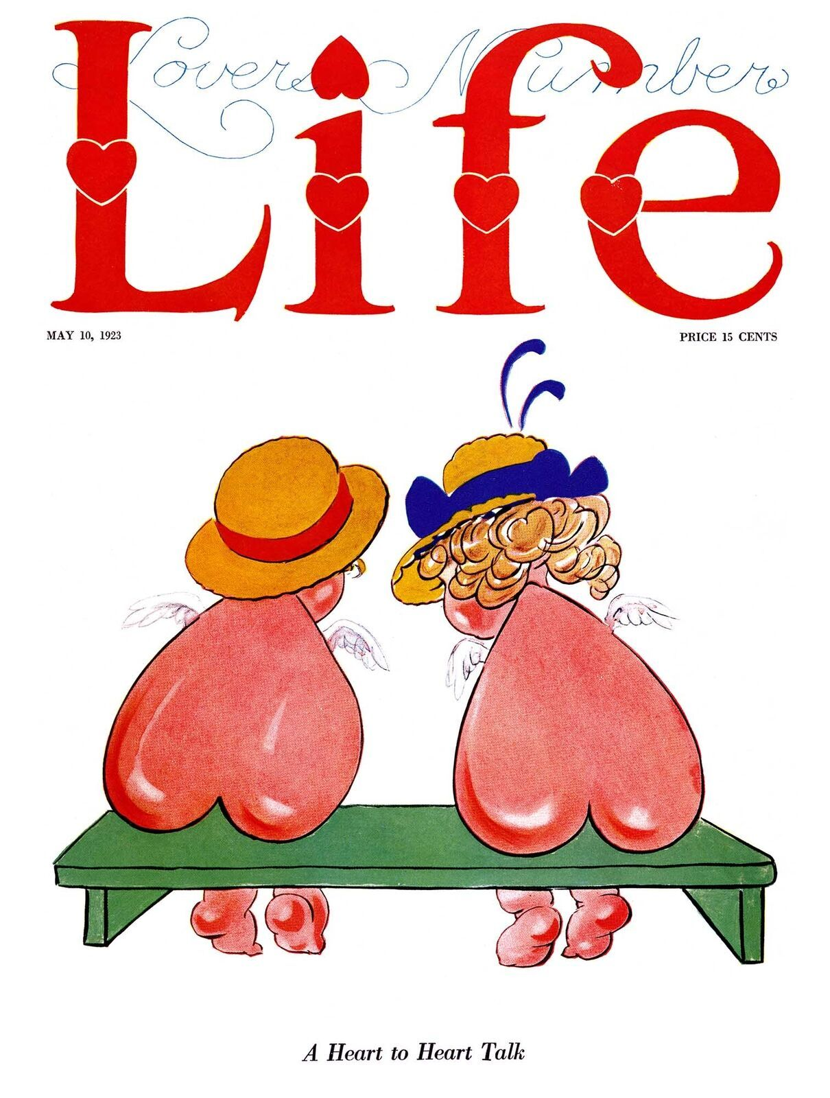 Life Magazine Prints: A Heart To Heart Talk - Herford - May 10 1923 - $12.95 - $19.95