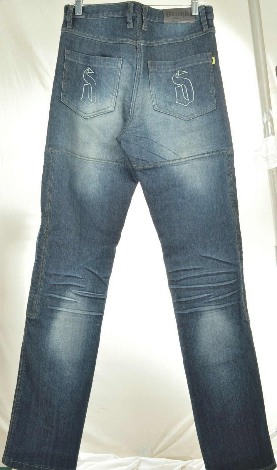 Drayko Jeans Mens 30 x 37 Motorcycle Riding extra long padded - Slightly Used image 9