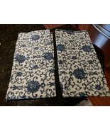 2 Ralph Lauren Porcelain Rosette Standard Pillow Cases Asian Blue Floral... - $54.95