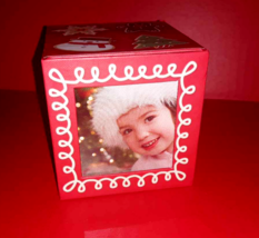 "Hallmark 2010 Red Photo Cube Picture Box Christmas Treats 3"" Sugar Cooki... - $5.44"