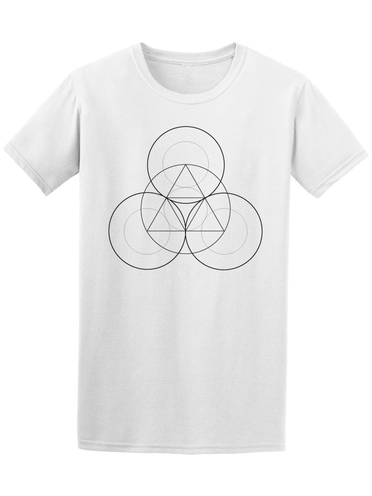 Triangles With Circles Geometric Men's Tee -Image by Shutterstock