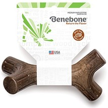 Benebone Maplestick Durable Dog Stick Chew Toy, Made in USA, REAL Maple Wood Fla