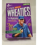 Tiger Woods Crispy Wheatie Cereal Box (empty) LIMITED EDITION INAUGURAL BOX - $29.68