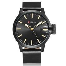 CURREN 8208 Fashion Big Dial Men Wristwatch Alloy Case Leather Spiral Cr... - $22.99
