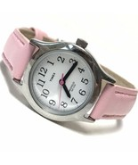 Kids Timex My First Easy Reader Indiglo Silver Pink T79081 Fresh Battery... - $12.87