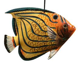 Tiki Tropical Blue Stripe Butterfly Hanging Fish TFO14 - $15.76