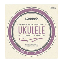 D'Addario Ukulele Strings Fluorcarbon EJ99B Uke Soprano/Concert Pro-arte... - $13.01