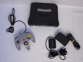 Nintendo 64 Launch N64 Charcoal Grey Console Complete Jumper Pack +1 con... - $51.06