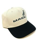 MACK TRUCKS BEIGE BLACK CLASSIC BULLDOG LOGO ADJUSTABLE CURVED BILL HAT ... - $18.00
