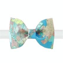 Fashion Bow Tie Modern Map Design Pattern Men Tie Neckties Boys Bow Ties Cravat
