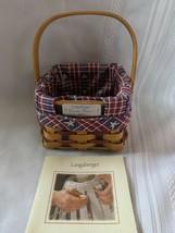 Longaberger 2004 Dresden Basket Combo Patriotic Weave accents & Fabric L... - $28.04