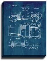 Military Vehicle Body Patent Print Midnight Blue on Canvas - $39.95+