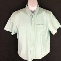 Vans Men's Button Front Shirt Green M - $19.79