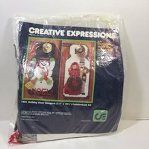"Holiday Door Hangers Plastic Canvas Kit Creative Expressions 2-5.5"" x 10.5"" - $12.59"