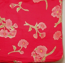 Pottery Barn Peony Watercolor Pink Floral Red Standard Shams (Set of 2) - $43.00