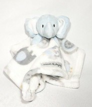 Blankets and Beyond Nunu Plush Blue Elephant Lovey Security Blanket - $10.00