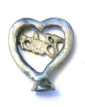 """Heart """"Bitch""""  Fine Pewter Figurine - Approx. 1 inch tall     (T236) image 3"""