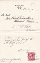 T. B. White Moffat 1913 For Professional Attendance Stamp Receipt Ref 39169 - $7.59