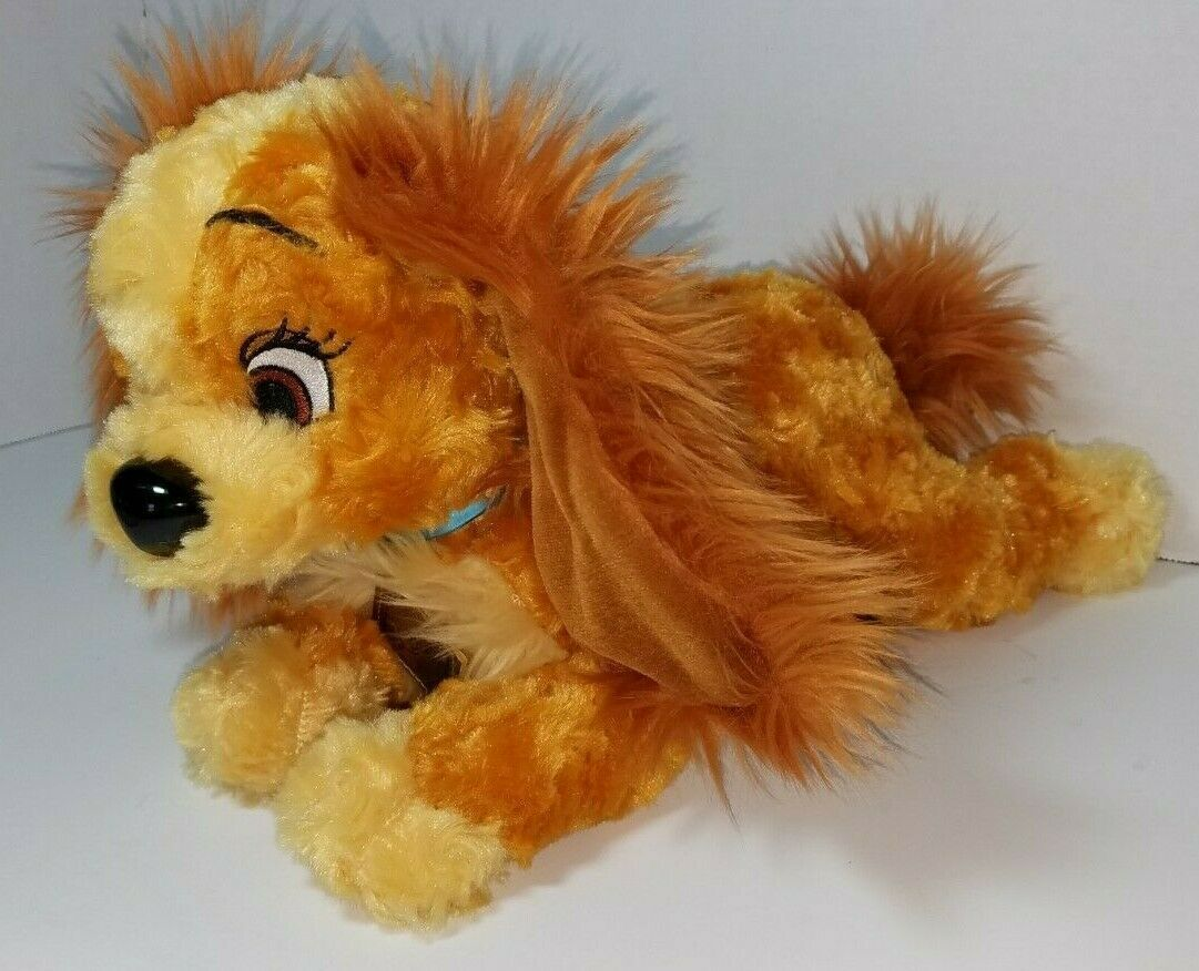 "Disney Parks Lady And The Tramp Exclusive Plush Stuffed Animal Soft Toy 12"" Dog"