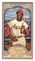 2012 Mini Straight Cut Back Lou Brock St. Louis Cardinals #329 - $0.98