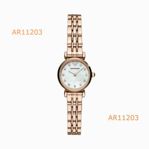 Emporio Armani Rose Gold Tone Women's Quartz Stainless Steel AR11203 Watch  - £135.26 GBP