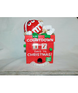 M Ms Red Countdown To Christmas Advent Calendar Candy Dispenser 6 Inches... - $19.99