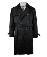 Ralph Lauren LRL Mens Black Edmond Cotton Blend Trench Coat Sz 40S Short... - $138.84