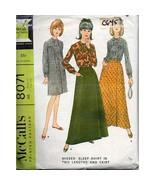 Misses Sleep Shirt Skirt McCalls 8071 Pattern Vintage 1965 Size 14-16 c645 - $6.99